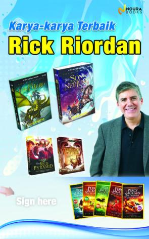 Rick Riordan Percy Jackson Heroes of Olympus Indonesia book display Noura