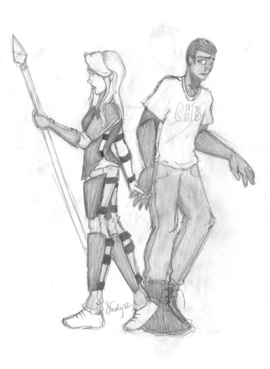 Percy Jackson Heroes of Olympus Fan Art Silena Beauregard Charlie Beckendorf