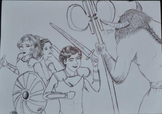 Percy Jackson Annabeth Chase Michael Yew Minotaur The Last Olympian